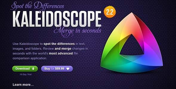 Kaleidoscope Mac app web design
