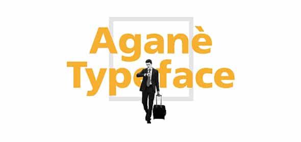 Aganè Font on Behance