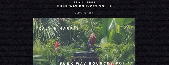 CALVIN HARRIS Background Music website
