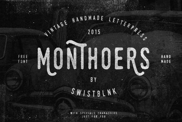 20 Free Psychedelic Fonts All Designers Must Have: Monthers