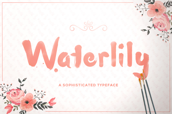 20 Free Psychedelic Fonts All Designers Must Have: Waterlily