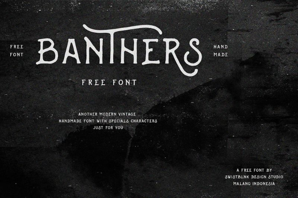 20 Free Psychedelic Fonts All Designers Must Have: Banthers
