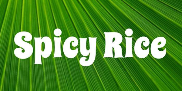 20 Free Psychedelic Fonts All Designers Must Have: Spicy Rice