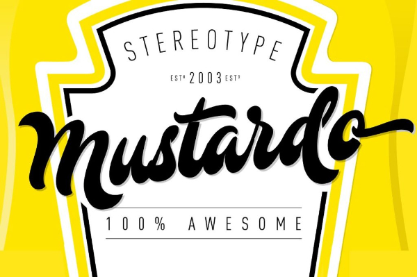 20 Free Psychedelic Fonts All Designers Must Have: Mustardo