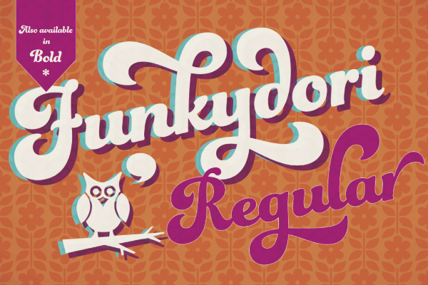 20 Free Psychedelic Fonts All Designers Must Have: Funkydori